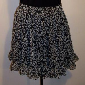 Royal Bones Tiered Skirt Size XL